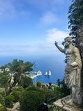 Statue of Emperor Augustus. At the top of Monte Solaro. Monte Solaro is a mountain on the island of Capri in Campania, Italy. With an elevation of 589 m, its stock photography