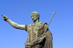 Statue of emperor Caesar Augustus. Bronze statue of emperor Caesar Augustus on Via dei Fori Imperiali, Rome, Italy Stock Photography