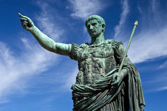 Statue of Emperor Caesar in Rome Stock Image