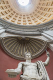 Statue of Emperor Claudius in the Round Hall. Vatican. Rome. royalty free stock image