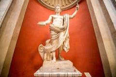 Statue of Emperor Claudius. VATICAN - CIRCA SEPTEMBER, 2014: Statue of Emperor Claudius in the Vatican Museum stock image