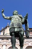 Statue of emperor Constantine. In front St. Lawrence Cathedral in Milan Stock Image