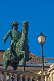 Statue of emperor Franz Joseph of Austria on a horse at downtown of Vienna Royalty Free Stock Photos