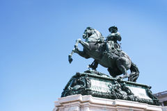 Statue of emperor Franz Joseph I Royalty Free Stock Photo
