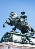 Statue of emperor Franz Joseph I Stock Photos