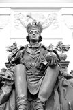 Statue of Emperor Paul I in the courtyard of Mikhailovsky Castle. Stock Photos