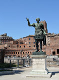 A statue of the Emperor Trajan in front of his forum in Rome, It Stock Photography