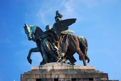 Statue of emperor Wilhelm I Stock Images