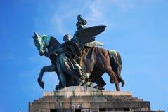 Statue of emperor Wilhelm I. Statue of imperator Wilhelm at the Deutsches Eck in Koblenz Stock Images