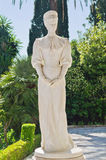 Statue of Empress Elisabeth of Bavaria. At the Achilleion Palace in Corfu Stock Image