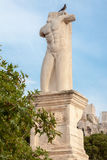Statue en agora antique Athènes Photographie stock