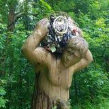 Statue en bois Photo libre de droits