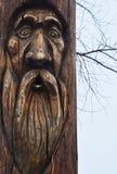 Statue en bois de l'idole Architecture photo stock