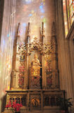 Statue en bois de Mary Image libre de droits