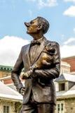 Statue en bronze à vieux Montréal images stock