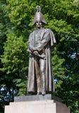 Statue en bronze de Barclay de Tolly à Riga Photo stock