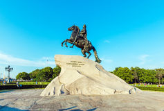 Statue en bronze de cavalier, St Petersbourg, Russie photo libre de droits