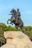 Statue en bronze de cavalier, St Petersbourg, Russie photographie stock