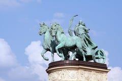 Statue en bronze de chariot Images libres de droits