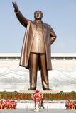 Statue en bronze de Kim Il-sung Photo stock
