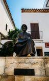 Statue en bronze de Maimonides, de 1135 - 1204, rabbin juif, médecin et philosophe en Al Andalus Quart juif dedans image libre de droits