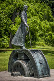 Statue en bronze de Nikola Tesla Image stock