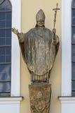 Statue en bronze de pape John II Photographie stock