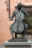 Statue en bronze de Puccini à Lucques, images stock