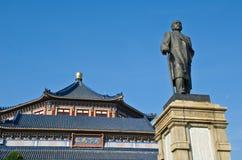 Statue en bronze de Sun Yat-sen Images stock