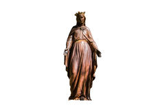Statue en bronze de Vierge Marie image libre de droits