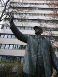 Statue en bronze du Bauarbeiter, Berlin, Allemagne photos libres de droits