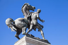 Statue en bronze du cheval plus docile à Vienne photographie stock