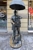 Statue en bronze du photographe dans StPetersburg, Russie image libre de droits