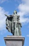 Statue en bronze du Roi Gustaf 3 Photo libre de droits