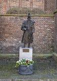 Statue en bronze Jan Janse de Weltevree, De Rijp, Pays-Bas images libres de droits