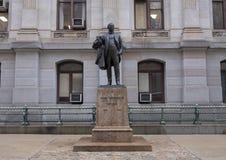 Statue en bronze John Wanamaker, citoyen, ville hôtel, Philadelphie, Pennsylvanie images stock