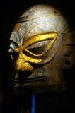 Statue en bronze Sanxingdui Sichuan Chine d'or Photographie stock libre de droits