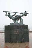 Statue en métal de Poseidon Images libres de droits