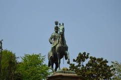 Statue en parc Photo stock
