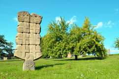 Statue en parc de sculpture - podkrkonosi de Horice v Photos stock