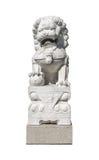 Statue en pierre chinoise de lion Images libres de droits