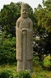 Statue en pierre d'évêque - tombes de dynastie de chanson, Chine Images libres de droits