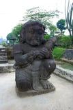Statue en pierre dans le temple de Penataran, Java, Indonésie Photo libre de droits
