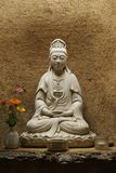 Statue en pierre de Bouddha Photo stock
