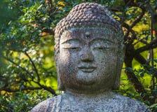 Statue en pierre de Bouddha au temple de Ryoan-JI à Kyoto Photo libre de droits