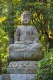 Statue en pierre de Bouddha au temple de Ryoan-JI à Kyoto Image libre de droits