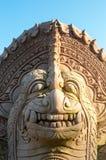 Statue en pierre de lion Photos stock