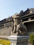 Statue en pierre de lion Photo stock