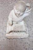 Statue en pierre de moine Image stock