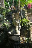 Statue en pierre gentille au temple Image libre de droits